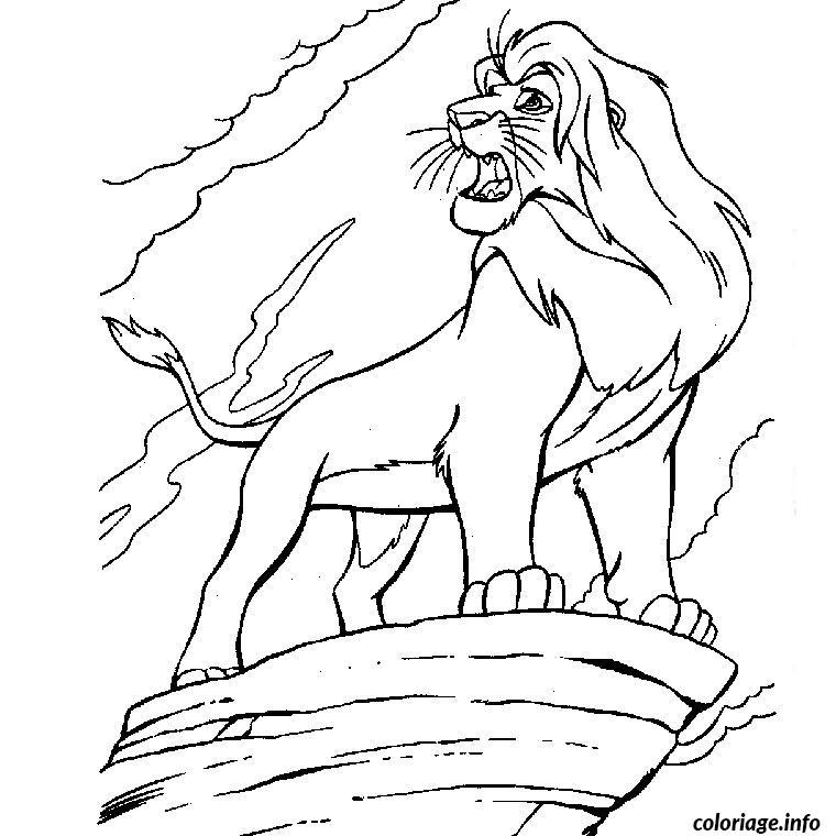 Coloriage Simba Le Roi Lion Dessin