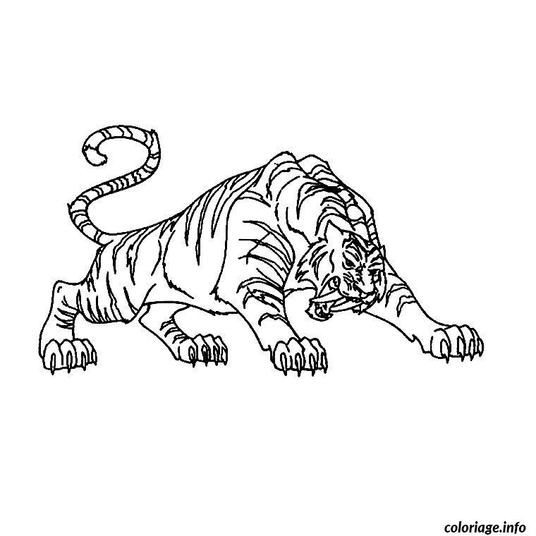 Coloriage tigre a dent de sabre - Coloriage tigre ...