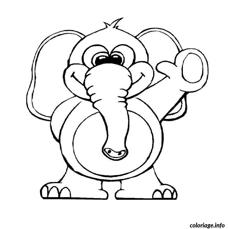 elephant bleu coloriage dessin