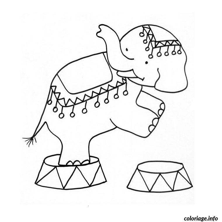 Coloriage elephant cirque dessin - Elephant image dessin ...