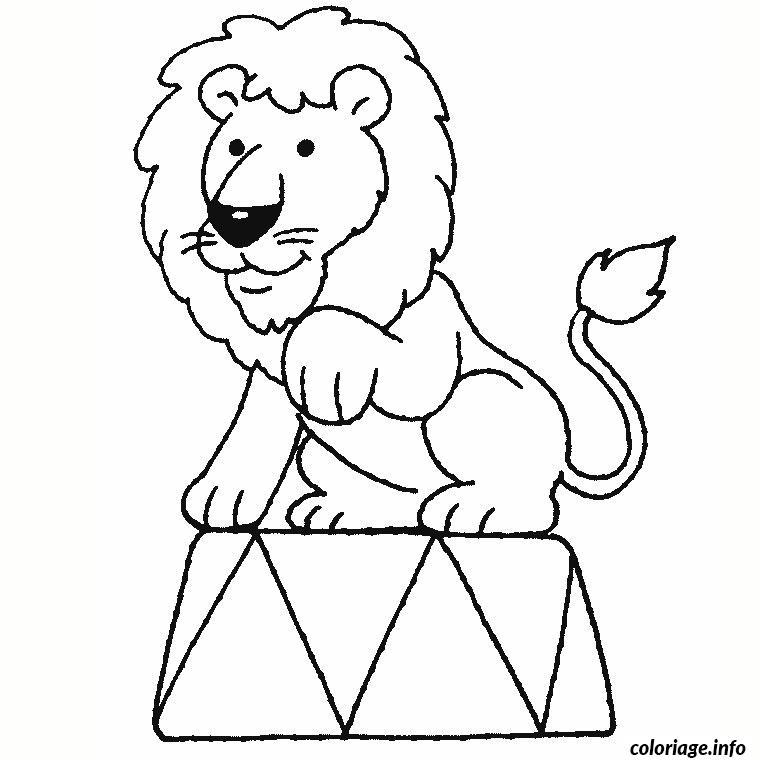 coloriage de lion cirque