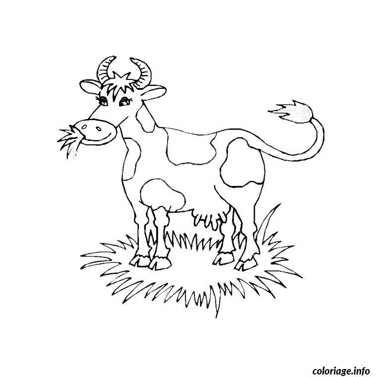 Coloriage vache yack dessin - Vache a imprimer ...