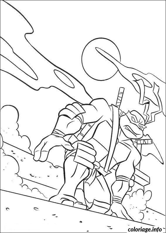 Tmnt 2003 coloring pages ~ Coloriage Tortue Ninja 235 dessin