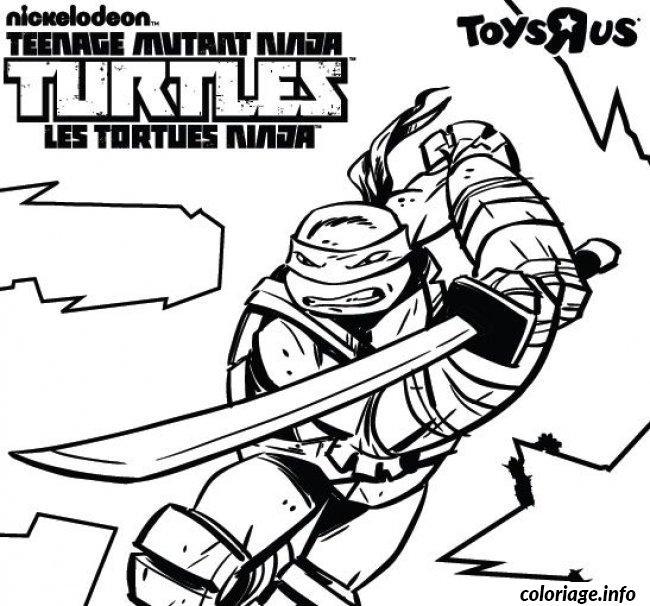 Voir Le Dessin Coloriage Tortues Ninja Coloriage Leonardo