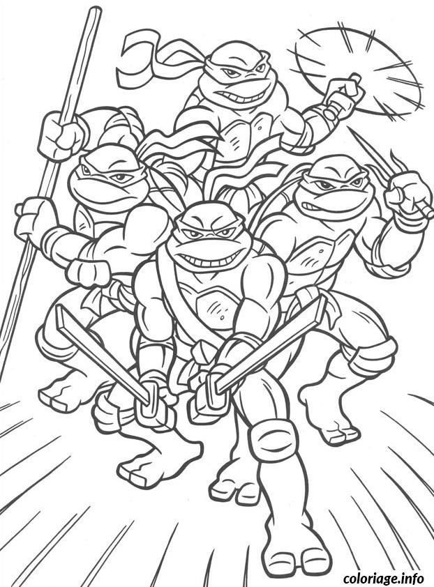 Coloriage tortue ninja 3 dessin - Jeux de tortue ninja gratuit ...