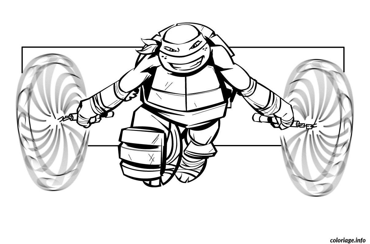 Coloriage tortue ninja 9 - Image tortue ninja ...