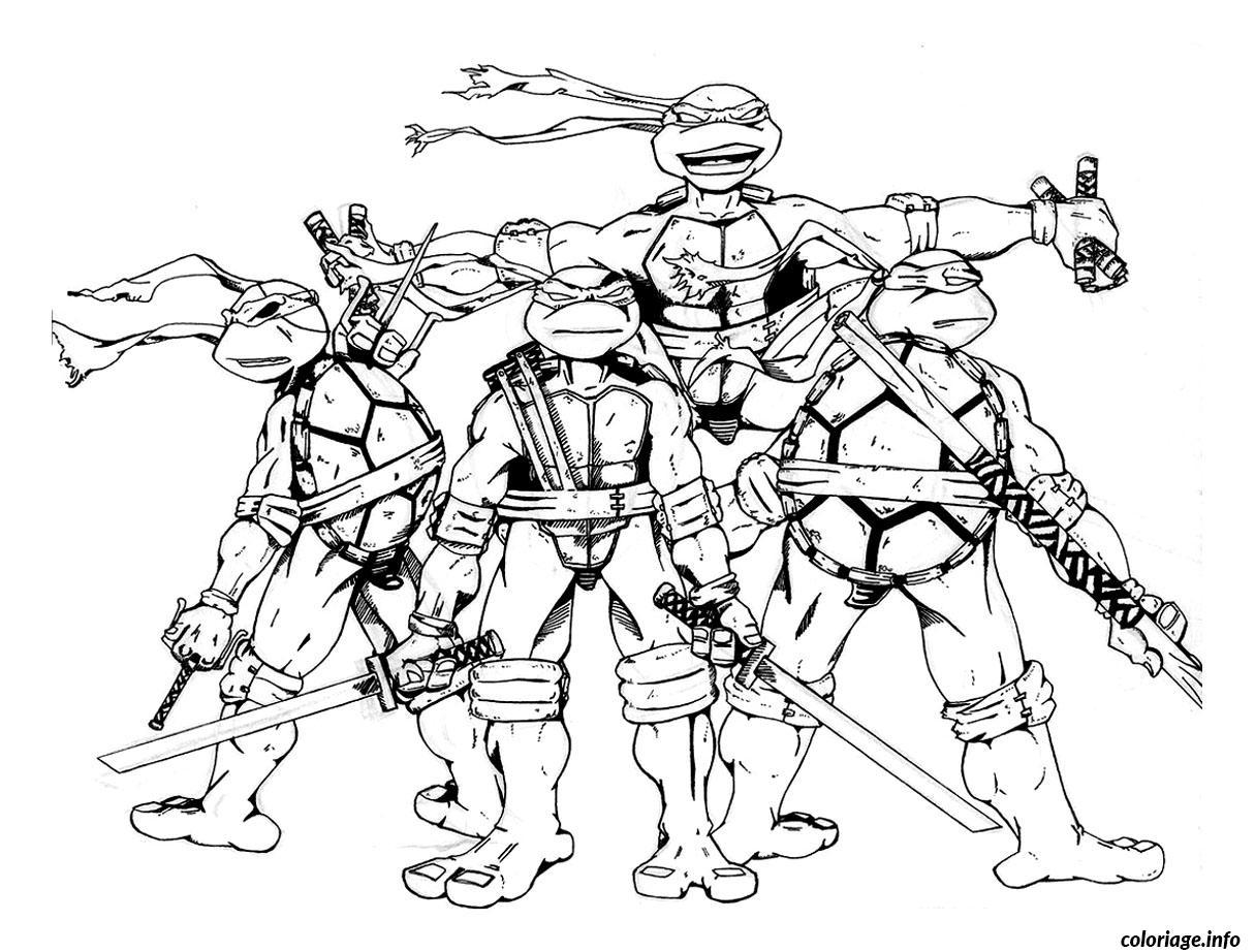 Dessin tortue ninja 15 Coloriage Gratuit à Imprimer