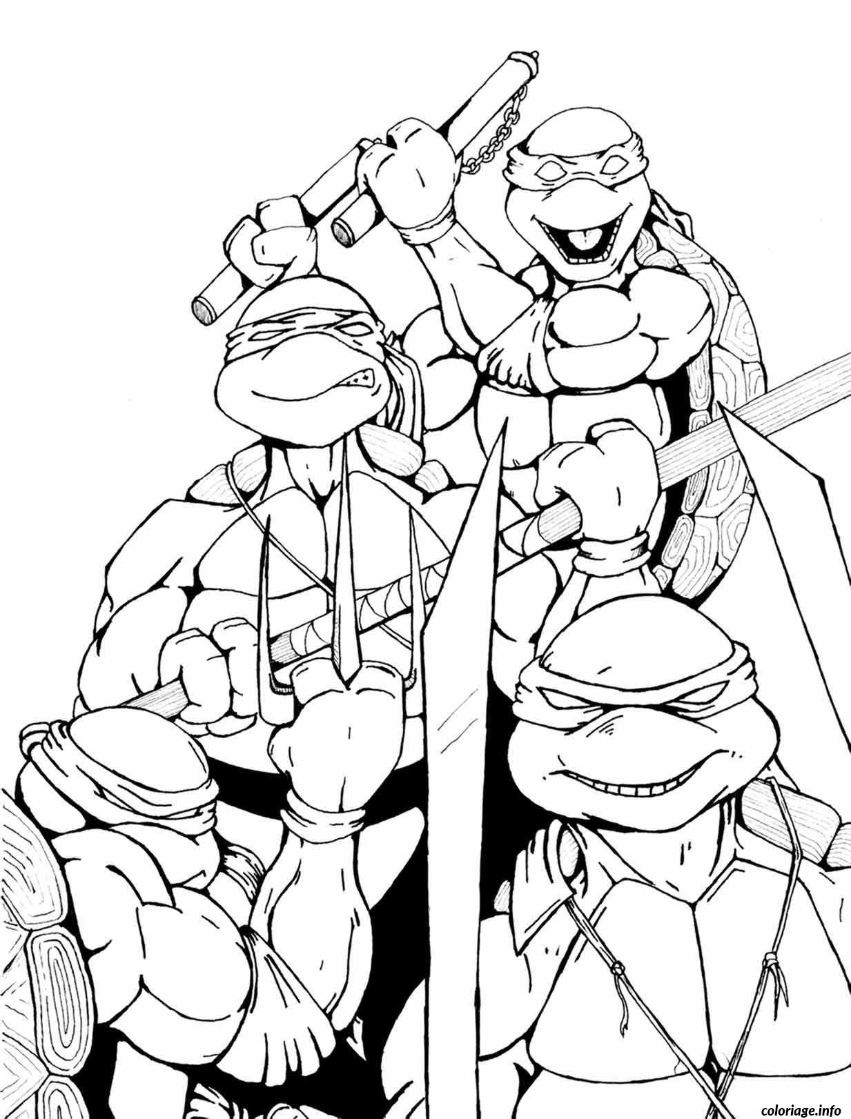 Coloriage tortue ninja 186 - JeColorie.com