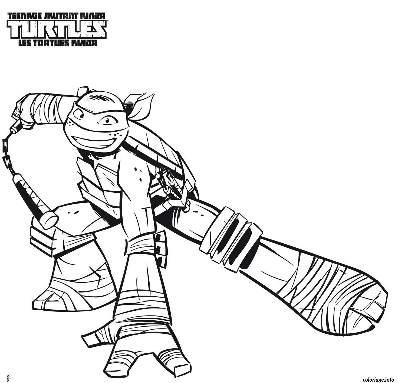 coloriage tortue ninja 26 dessin imprimer - Jeux De Tortue Ninja Gratuit
