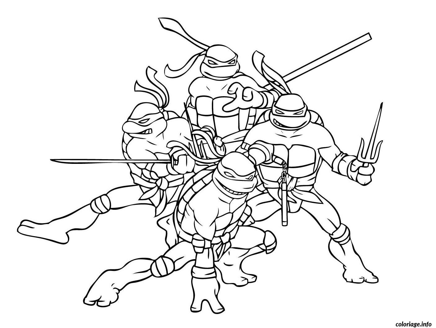 Coloriage tortue ninja 2 - JeColorie.com