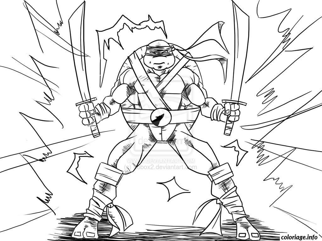 coloriage tortue ninja 32 dessin imprimer - Jeux De Tortue Ninja Gratuit