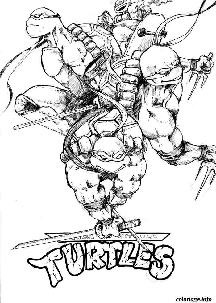 Coloriage tortue ninja team logo - Coloriages tortues ninja a imprimer ...