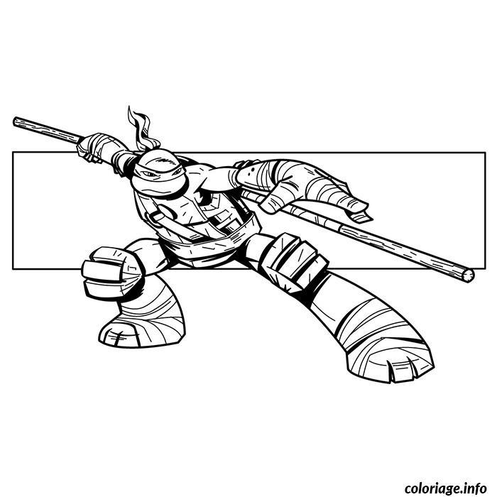 tortues ninjas donatello coloriage dessin
