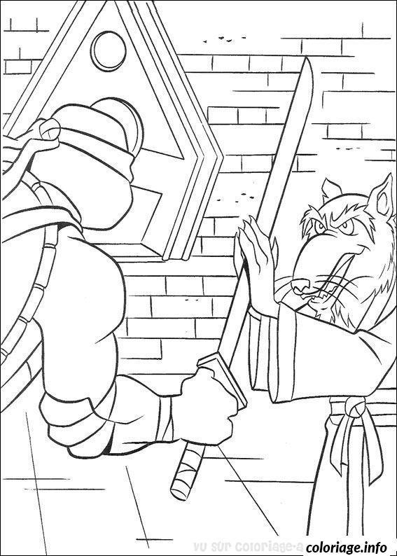 Coloriage tortue ninja 132 dessin - Rat dans tortue ninja ...