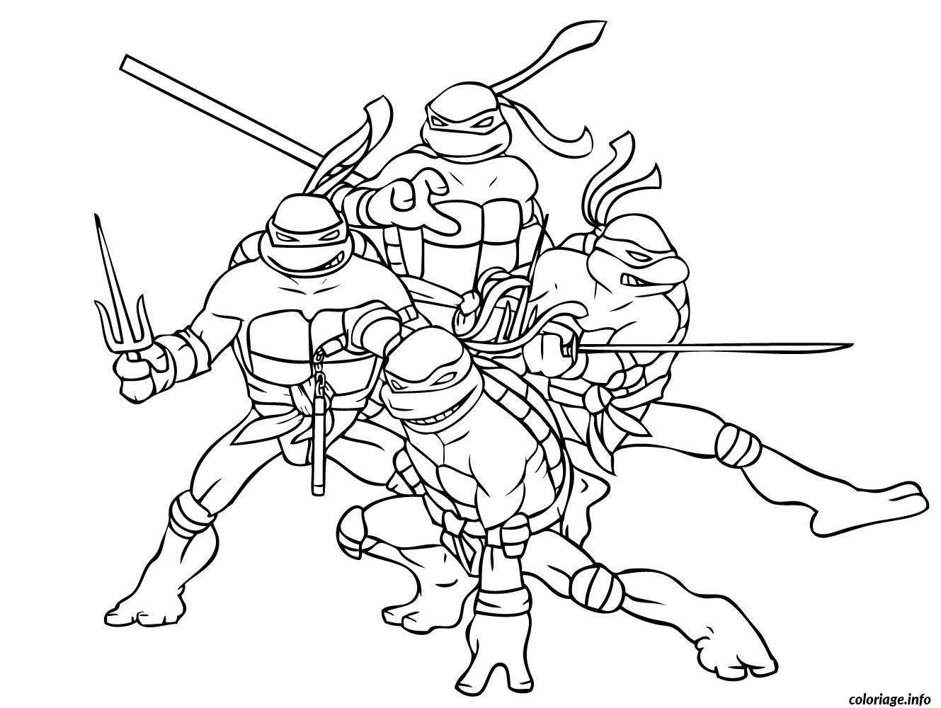 Coloriage tortue ninja 6 dessin - Tortue en dessin ...