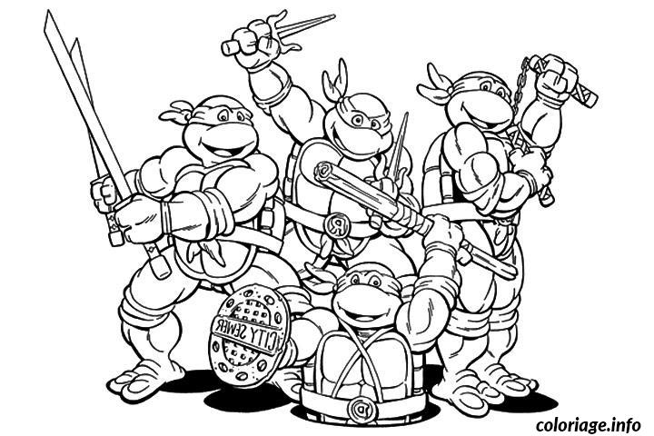 Coloriage tortue ninja 63 dessin - Dessiner un ninja ...