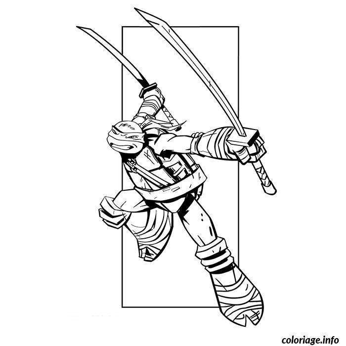 Coloriage tortues ninjas leonardo dessin - Dessin anime des tortues ninja ...