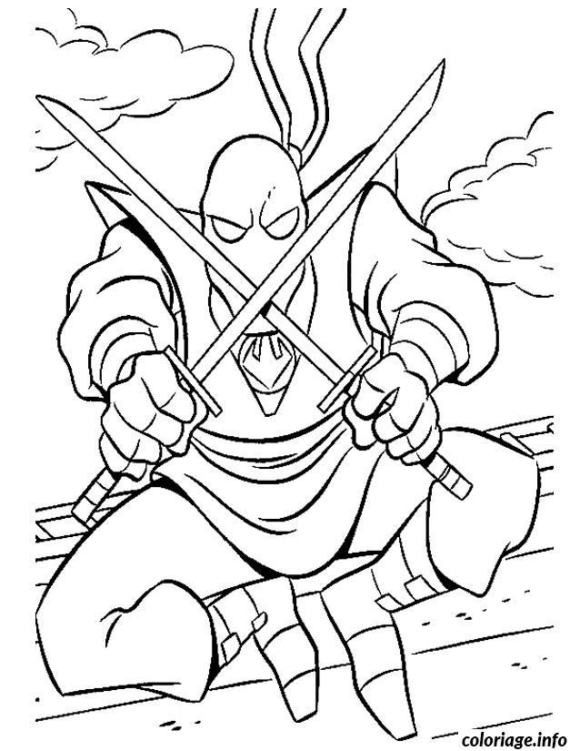 Dessin tortue ninja ennemi Coloriage Gratuit à Imprimer