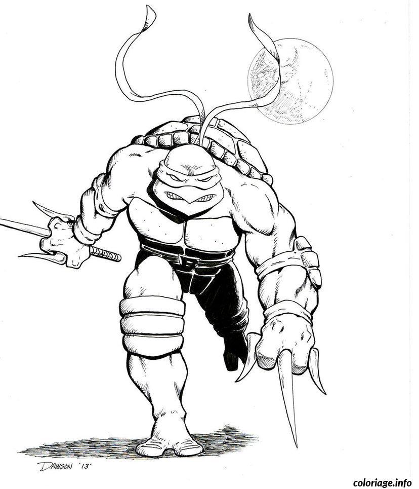Dessin tortue ninja 118 Coloriage Gratuit à Imprimer