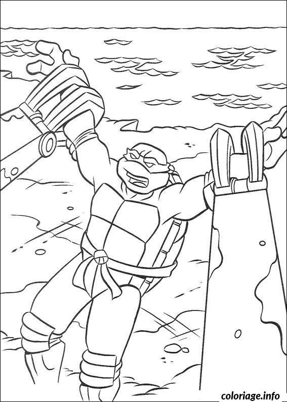 Dessin tortue ninja 184 Coloriage Gratuit à Imprimer
