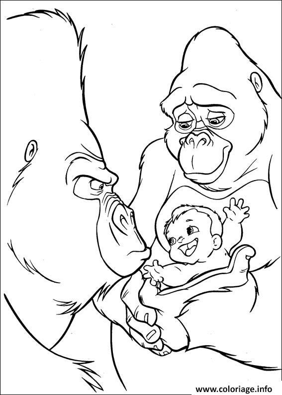 Coloriage tarzan 130 dessin - Tarzan coloriage ...