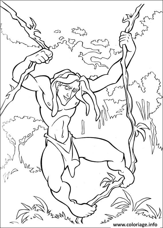 Coloriage tarzan 29 for Tarzan coloring pages