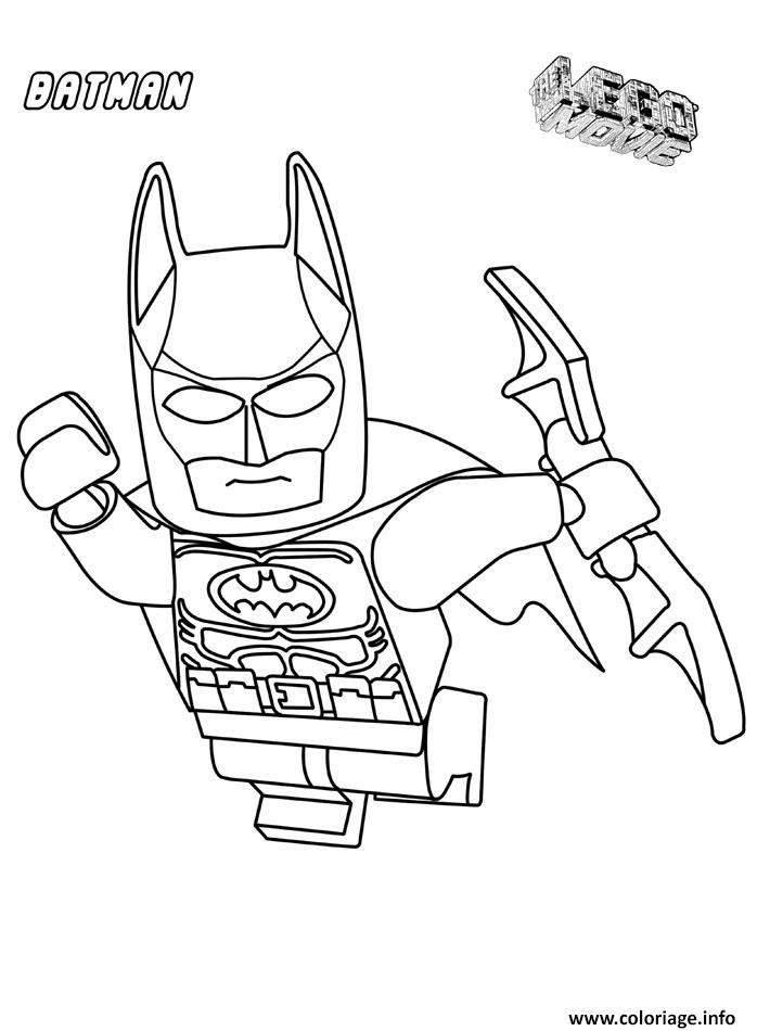 Coloriage Batman Lego Dans Les Airs Film dessin