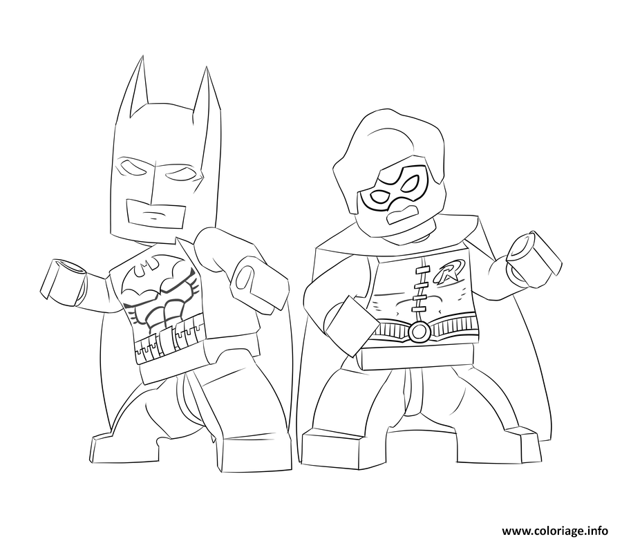Coloriage batman et robin lego for Batman robin coloring pages