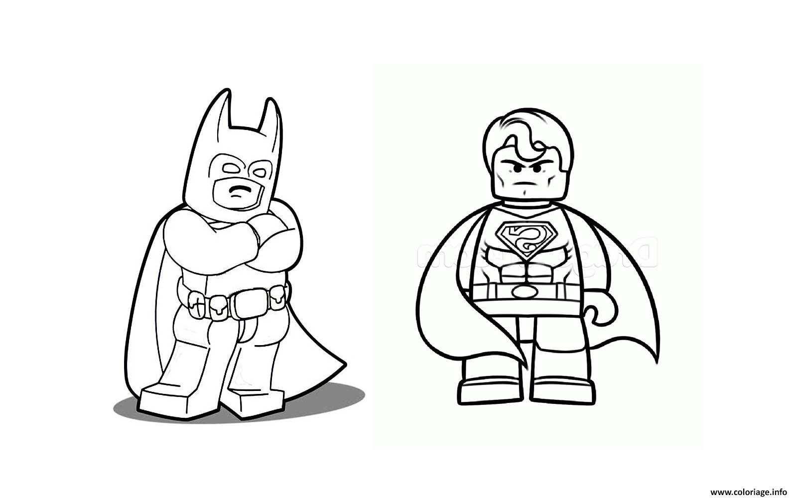 Coloriage Batman Et Superman A Imprimer.Coloriage Batman Vs Superman Lego 2016 Jecolorie Com