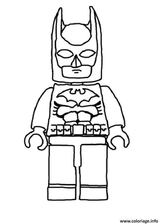 Coloriage Simple Batman Lego Movie 2016 Dessin à Imprimer