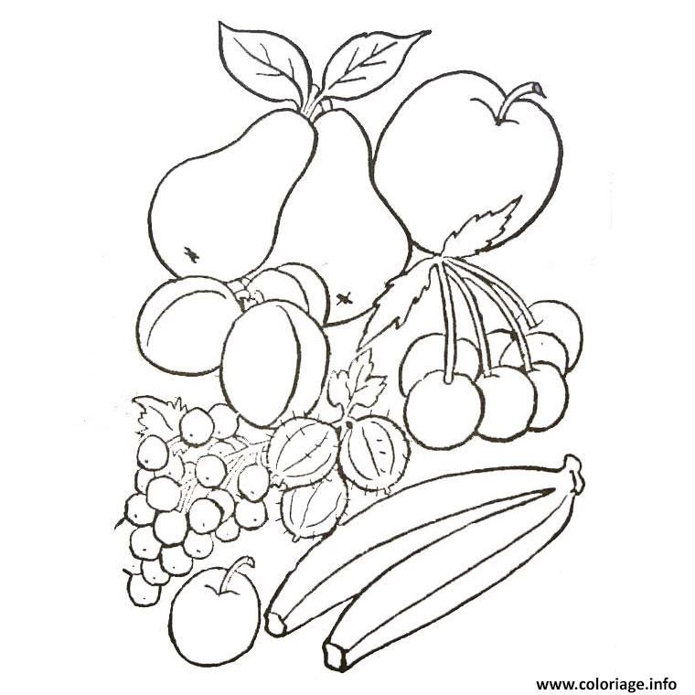 Coloriage fruits et legumes d automne - Fruits coloriage ...