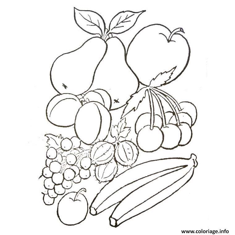 fruits et legumes d automne coloriage dessin