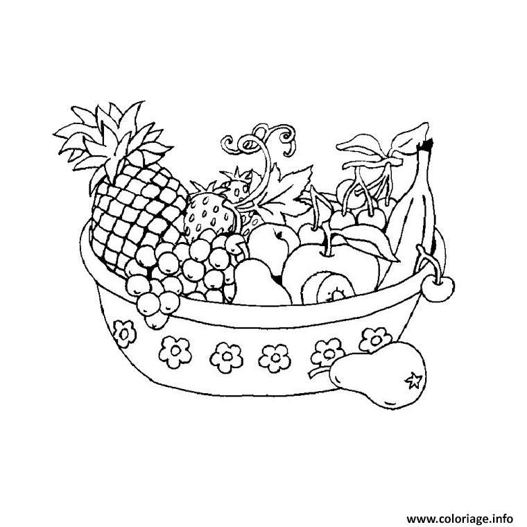Coloriage fruits legumes dessin - Dessert dessin ...