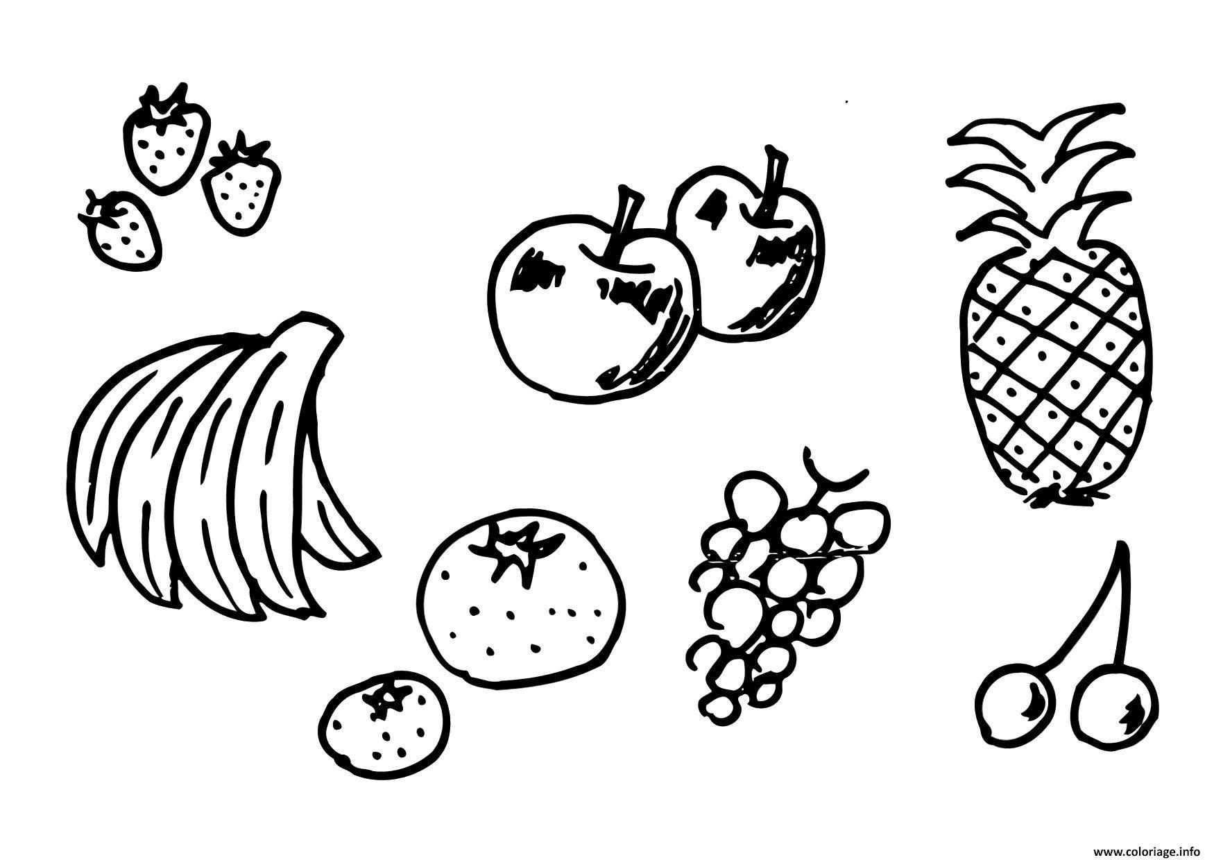Dessin fruit 174 Coloriage Gratuit à Imprimer