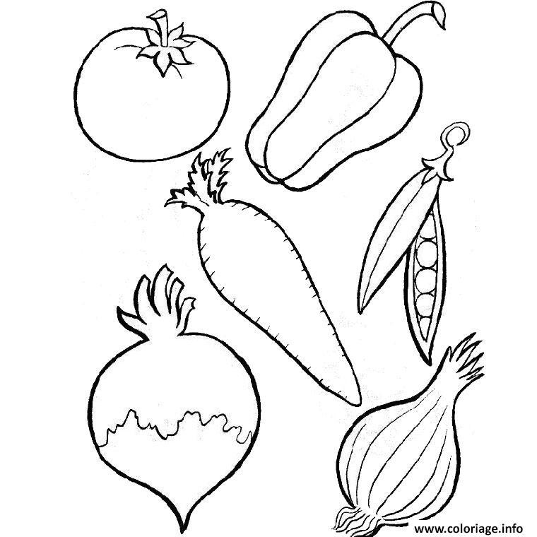 Dessin fruits et legumes Coloriage Gratuit à Imprimer