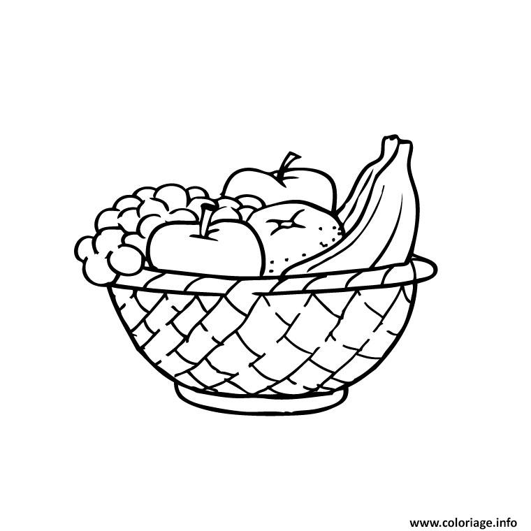 Coloriage fruits d ete - Fruits coloriage ...