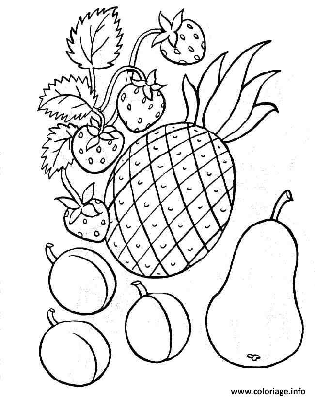 Coloriage fruit 119 - Dessins fruits ...