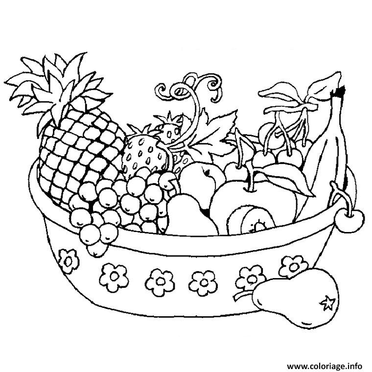 Coloriage legumes fruits - Fruits coloriage ...