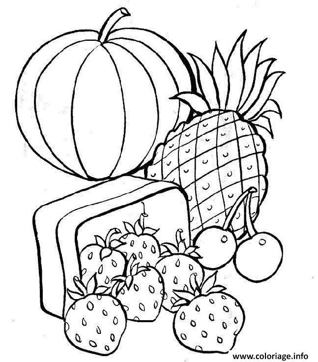 Coloriage Fruit 69 Dessin