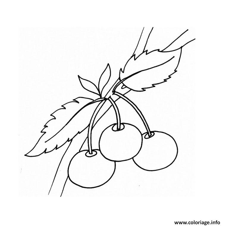 Coloriage Les Fruits.Coloriage Fruits Rouges Jecolorie Com