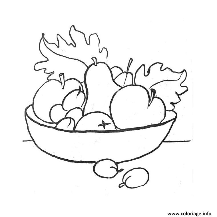 Coloriage fruits rigolos dessin - Fruits a colorier et a imprimer ...