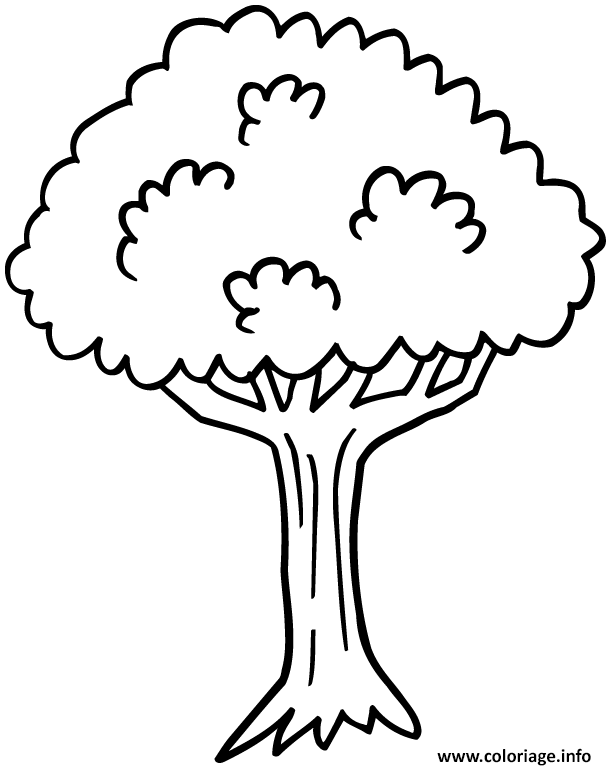 Coloriage arbre 7 - Dessin arbre simple ...