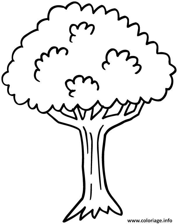 Dessin arbre 7 Coloriage Gratuit à Imprimer