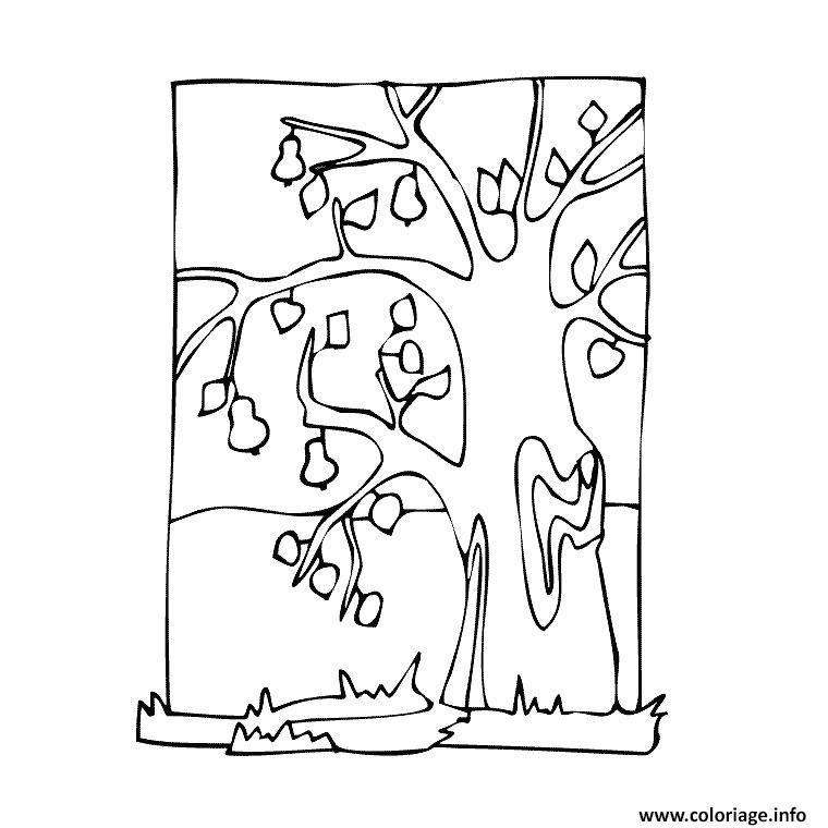 Coloriage Arbre Feuille.Coloriage Arbre Sans Feuilles Dessin