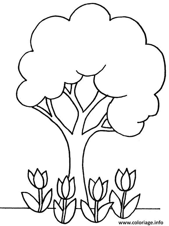 Dessin arbre 9 Coloriage Gratuit à Imprimer