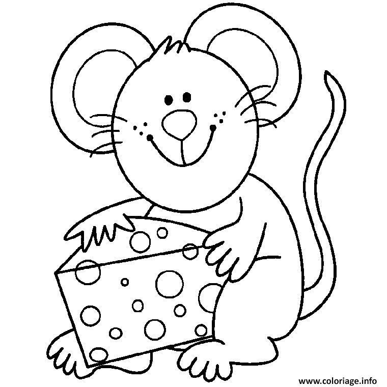 Coloriage souris dessin - Coloriage souris ...