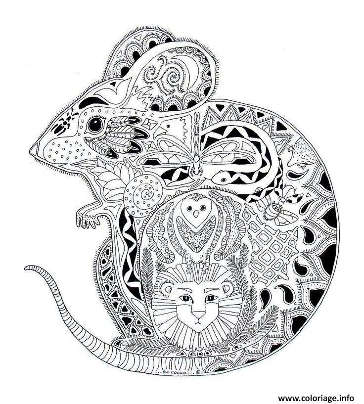 Coloriage Adulte Mandala Animaux.Coloriage Adulte A Imprimer Animaux