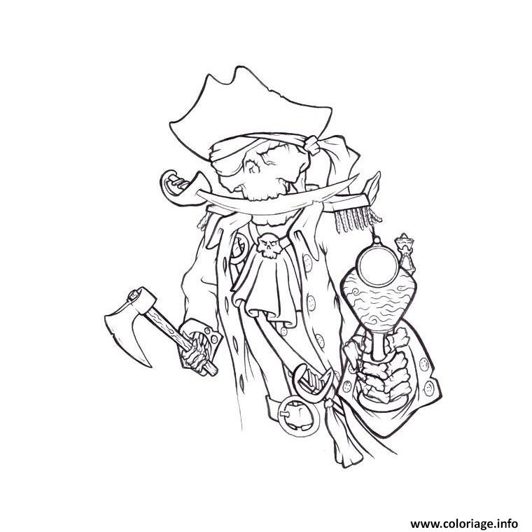 Coloriage squelette pirate - Dessins pirates ...
