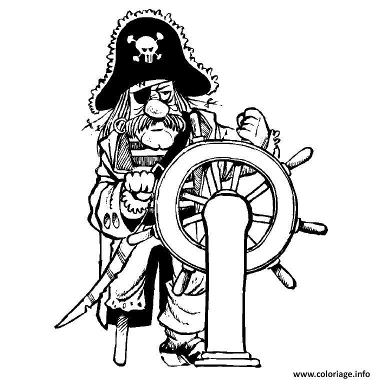 coloriage pirate dessin imprimer - Dessin De Pirate