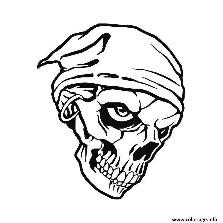 Coloriage tete de mort pirate dessin - Dessins a colorier gratuit a imprimer ...